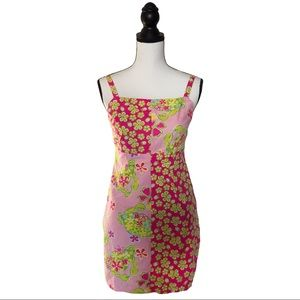 Lilly Pulitzer Vintage Crab Print Sheath Dress